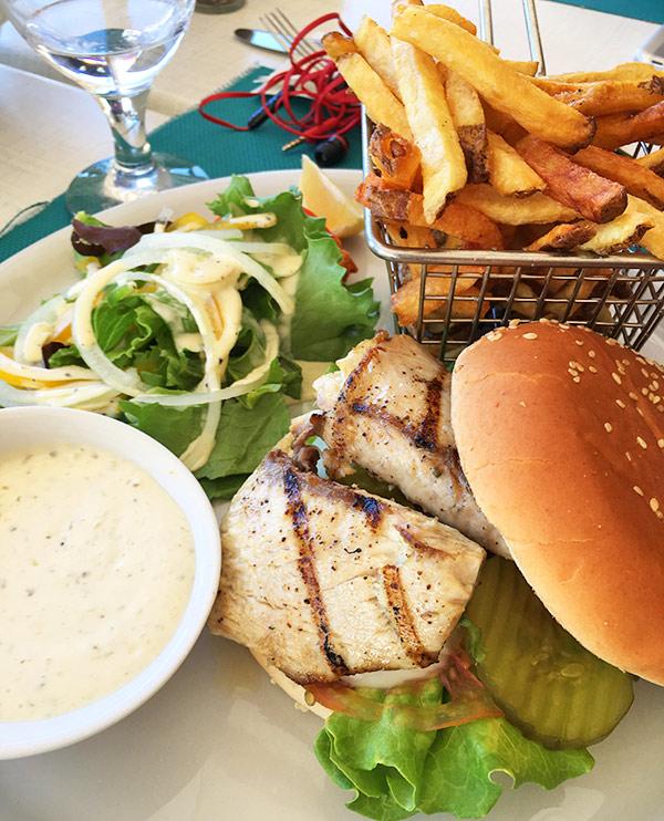 Fish burger at Madeariman
