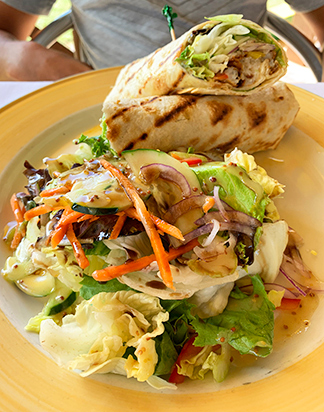 Fish Wrap from Andys restaurant