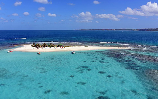 corail helicopter tour over sandy island anguilla