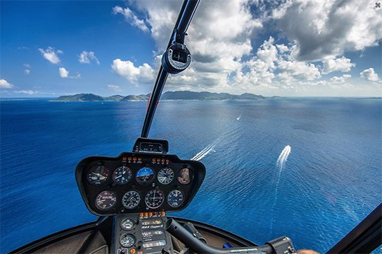 helicopter tour heading back to st. martin from anguilla