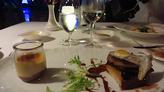 open face foie gras sandwich le bistro
