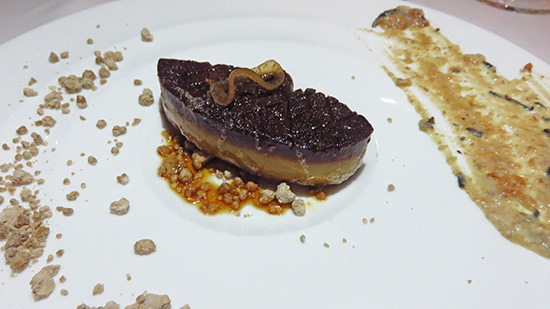 foie gras with maple dust and date parfait at cuisinart