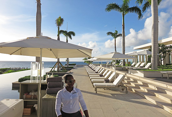 the pool at four seasons anguilla sunset lounge