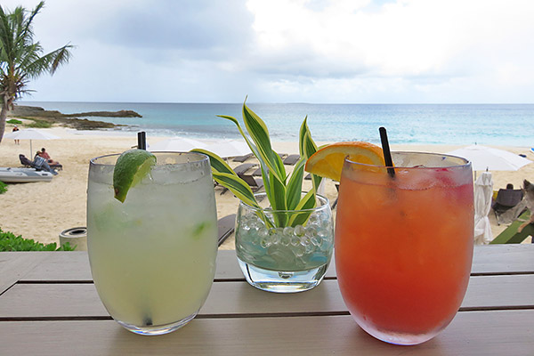jalapeno margarita and rum punch at four seasons anguilla