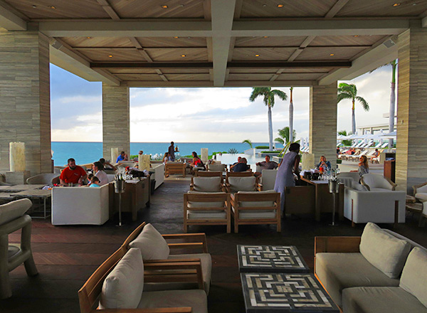 inside sunset lounge at four seasons anguilla