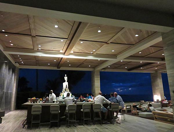 sunset lounge bar at night