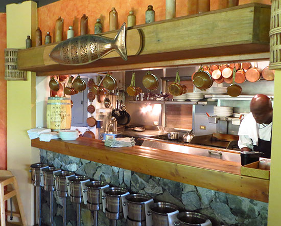 the kitchen at frenchmans cay clubhouse