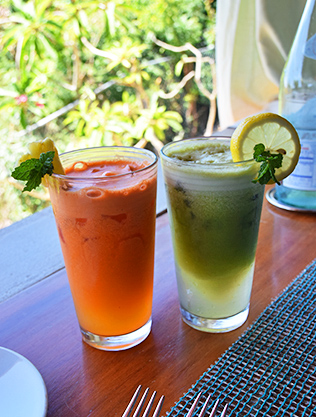Fresh and colorful juices!