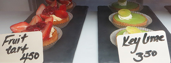 more pastries including fruit tart and key lime pie
