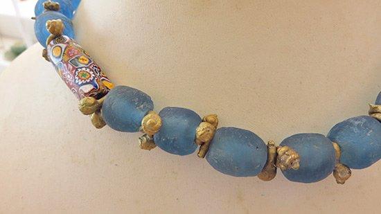 beautiful glass bead necklace