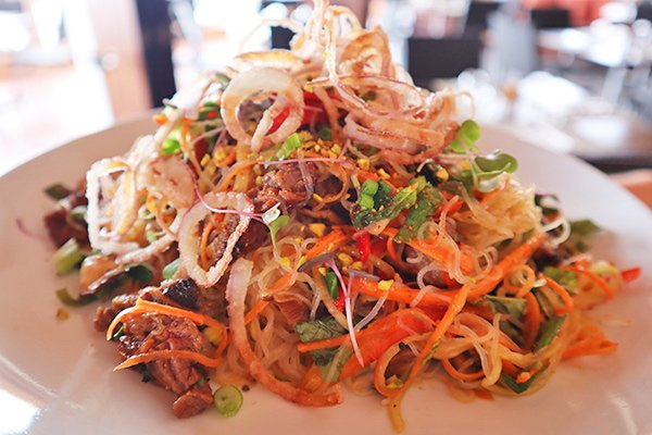 Charcoal Grilled Beef & Glass Noodle Salad at ember