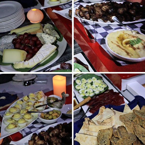 tradition sailing gourmet appetizers
