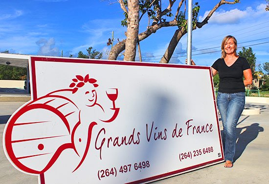 nathalie outside grands vins de france wine boutique