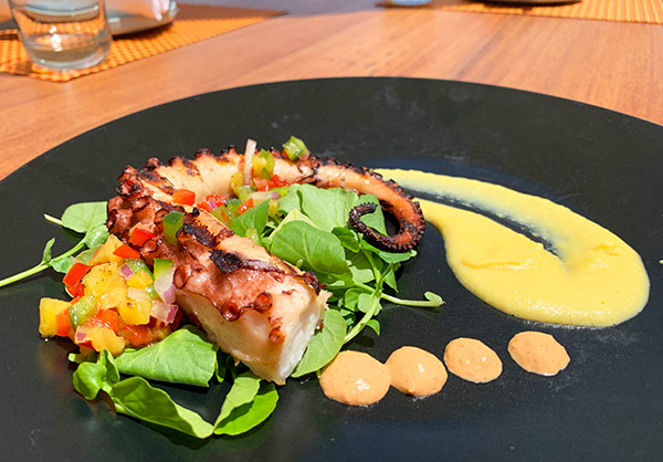 grilled octopus at belmond