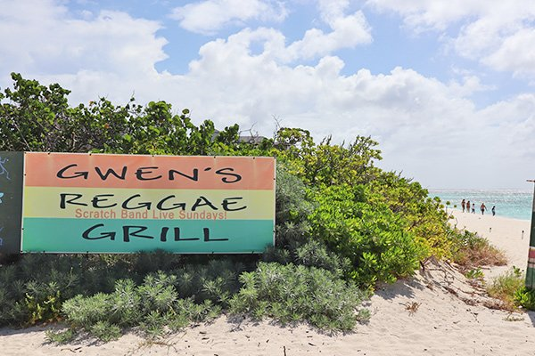 gwens location on the beach of shoal bay