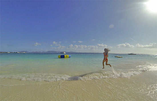 running into rendezvous bay