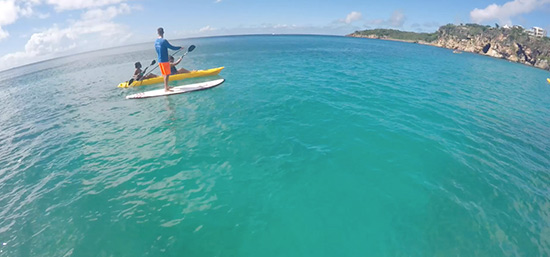 heading to little bay in anguilla kayak rentals