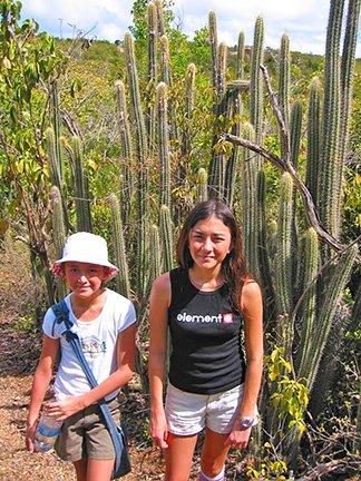 hiking to iguana cave anguilla 2002