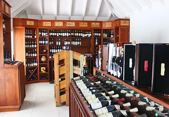 inside the grands vins de france wine shop
