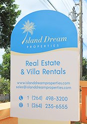 island dream properties sign anguilla
