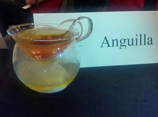 jamals anguilla bartending drink at taste of the caribbean