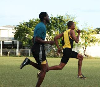 zharnel hughes running track