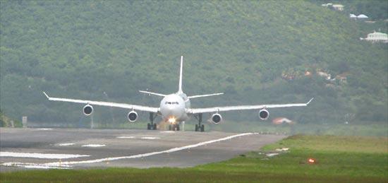 Jet at SXM airport