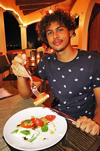 Jovial enjoying Local Tomato & Stracciatella Toast at ember