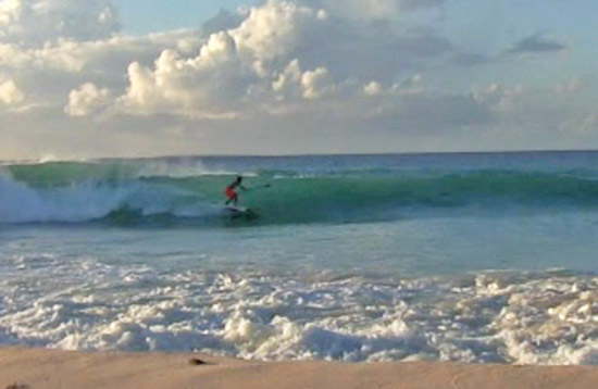judd sup surfing at meads bay anguilla