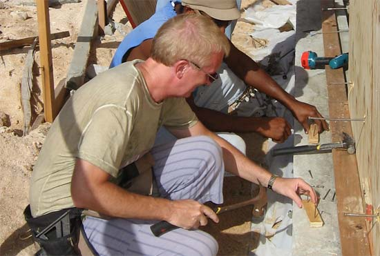 Anguilla builder Ken nailing
