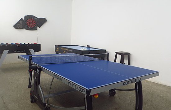 game room at CéBlue
