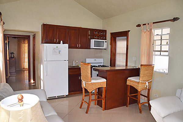 kitchen at kamilah suite rental