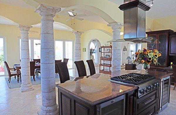kitchen at villa soleil
