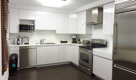 kitchen inside the villa suite at cuisinart