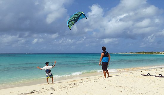 learning about the wind during an anguilla watersports kitesurfing lesson