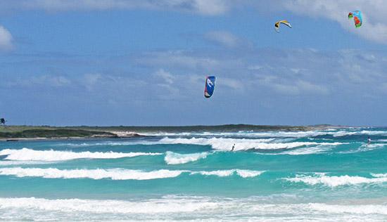 kitesurfing on savannah bay anguilla
