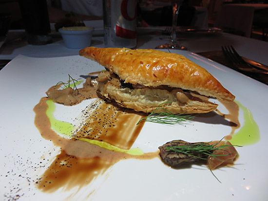 champignons cremeux appetizer at la villa