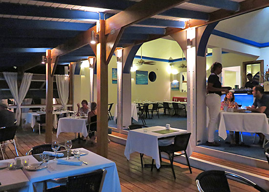 la villa restaurant on sandy ground anguilla