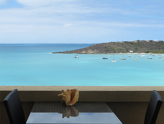 the view from la vue hotel in anguilla