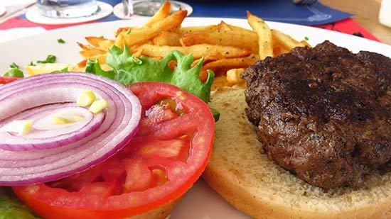 le veriunic burger veroniques famous burger at le bar