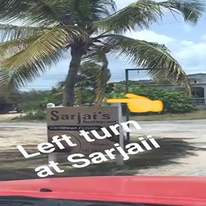 take a left at sarjais to get to long bay