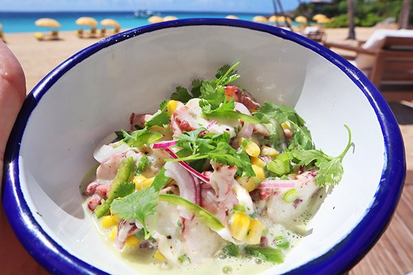 Octopus Ceviche at Leons