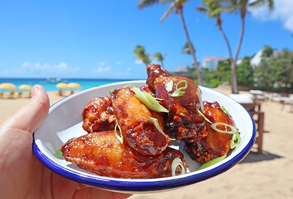 Spicy Rum Glazed Wings at leons