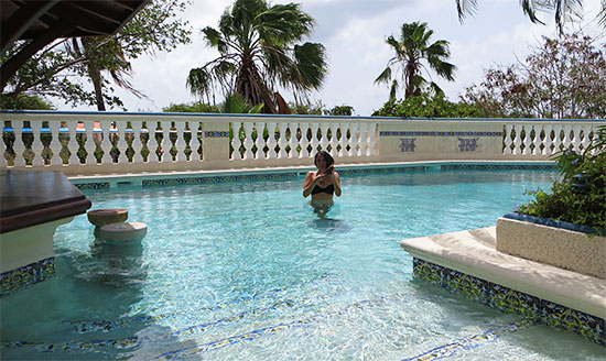 cooling off at l'esplanade's pool