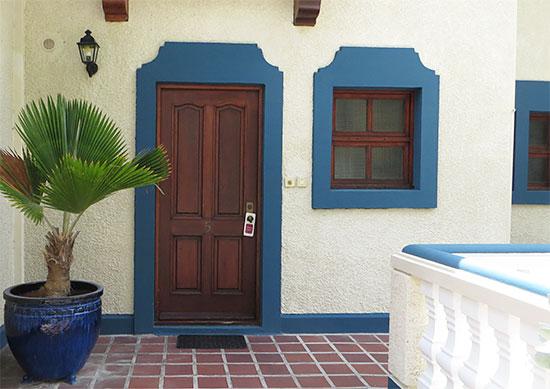 door to oversized loft suite at l'esplanade