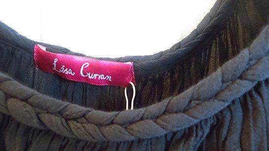 detail on the lisa curran braided mini dress