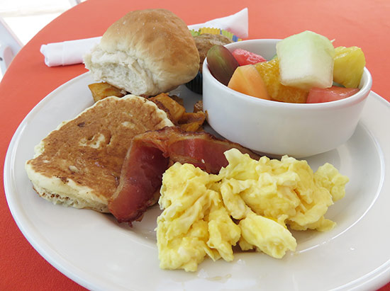 breakfast at lit fest in anguilla