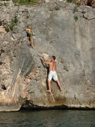 Anguilla beaches, Little Bay, the rock, climb
