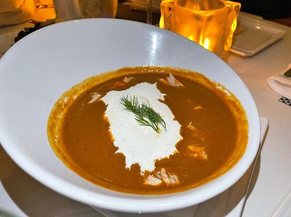 Lobster Bisque at SALT Restaurant & Bar at The Morgan Resort & Spa