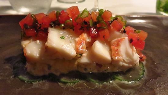 lobster salad on remoulade malliouhana appetizer
